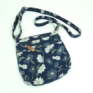 FLORAL DENIM CROSSBODY BAG
